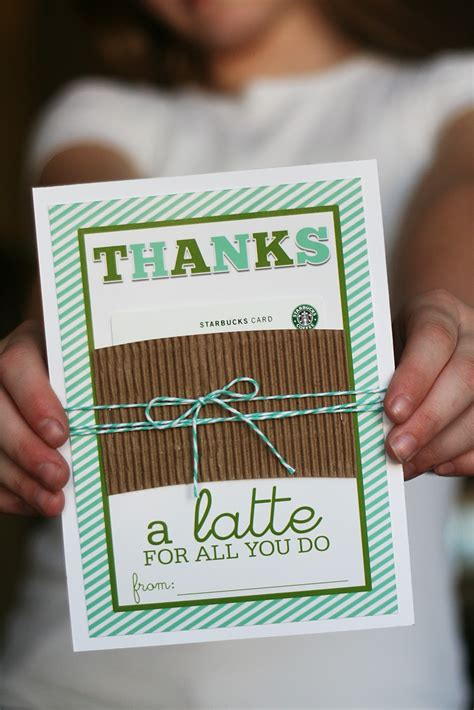 Thanks A Latte Starbucks Gift Card Template by The Runner Top Ten New Blogs I