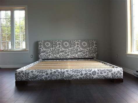 modern platform bed frame  chunky legs ana white