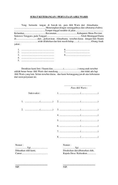 contoh surat kuasa tanah warisan contoh o