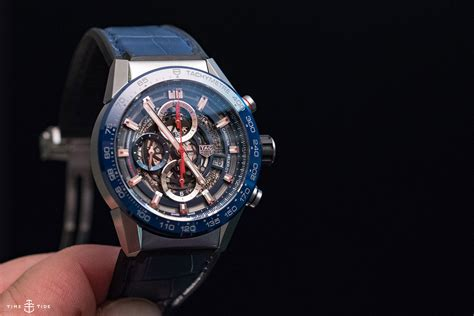 HANDS ON: The TAG Heuer Carrera Heuer 01, now in a wrist friendly 43mm   Time and Tide Watches
