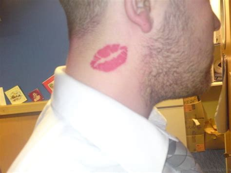 kiss tattoo on neck 39 attractive tattoos on neck