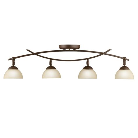kichler track lighting shop kichler bellamy 4 light 34 25 in olde bronze fixed