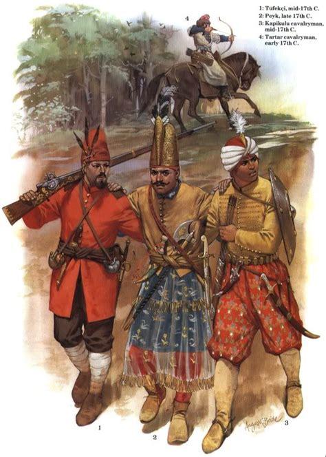 ottoman empire 17th century 1 t 252 fek 231 i mid 17th c 2 peyk late 17th c 3 kapikulu