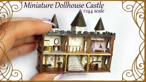 dollhouse and castle dollhouse for dolls 1 144 scale castle tutorial