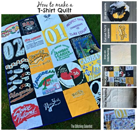 T Shirt Quilt How To Make Easy by Tshirt Quilt The Stitching Scientist