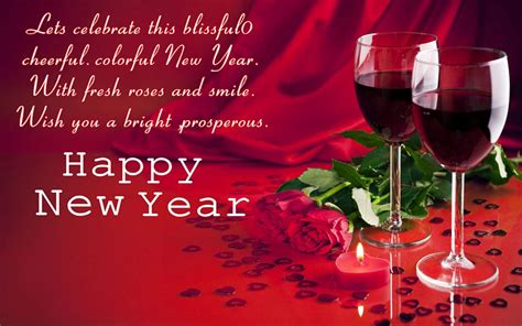 happy new year glasses with wine greeting card candle hd wallpaper 1920x1200