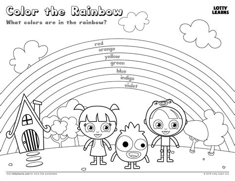 Rainbow Worksheets by Color The Rainbow Lotty Learns