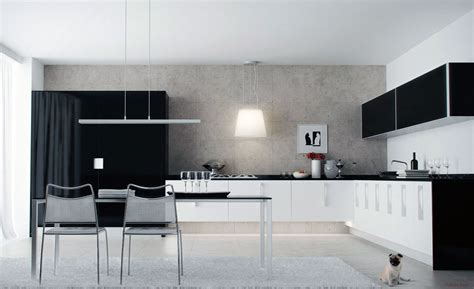Kitchen Designs Black And White Black And White Kitchen Cabinets