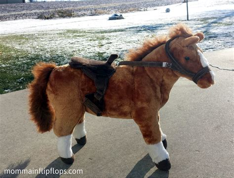 Horse Giveaway - horse with western saddle outfit from cp toys giveaway holidaygifting momma in