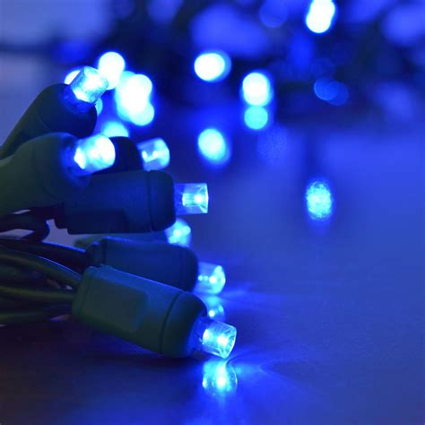 blue led string light strand 50 lights