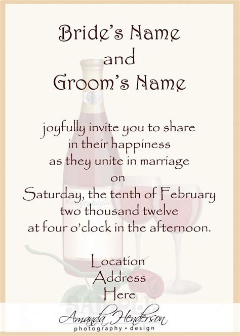 Wedding Invitation Wordings From Bride And Groom   Wedding