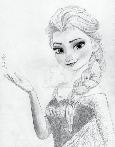 Elsa From Disney S Frozen By Julesrizz On Deviantart Princess Elsa Drawing
