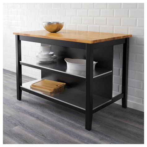 kitchen island cart ikea stenstorp kitchen island black brown oak 126x79 cm ikea