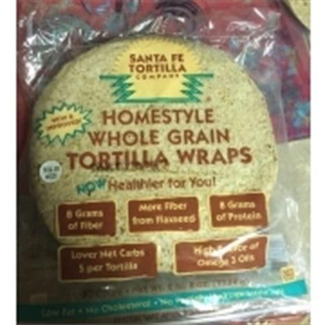 whole grain 100 calorie wrap santa fe tortilla company homestyle whole grain tortilla