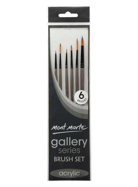 Series 0008 18 Set 3 In 1 m m gallery series brush set acrylic 6pce montmarte international pty ltd