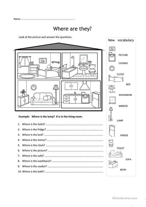 printable house worksheet rooms in the house worksheet free esl printable