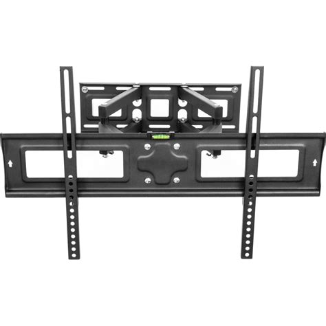 Support Mural Tv Inclinable Et Orientable by Support Tv Mural Orientable Et Inclinable 32 65 En Noir