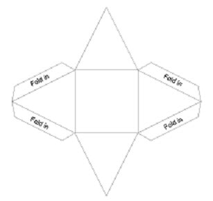 How Do You Make A Pyramid Out Of Paper - best photos of 3d pyramid cut out template printable 3d
