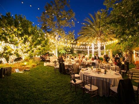 backyard wedding ideas nighttime and tropical backyard
