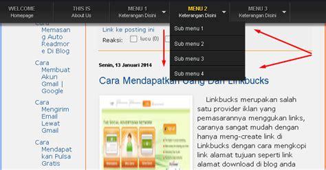 cara membuat menu dropdown menggunakan notepad cara memasang menu dropdown melayang wong mbeneh