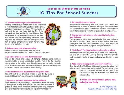 10 General Tips For High School by 10 Tips For School Success Sing Laugh Learn