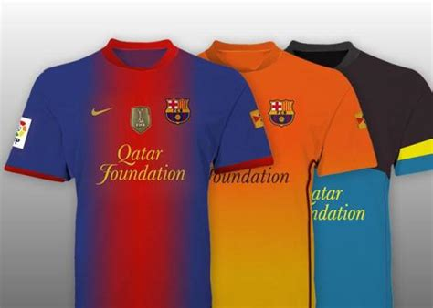 Jersey Barcelona Away 12 13 leaked new barcelona kits 12 13 nike home away orange third jerseys 2012 2013 football kit