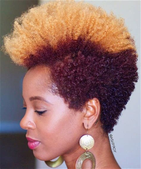 tapered mohawk for women 15 instagrammers with fierce twas big chops mohawks
