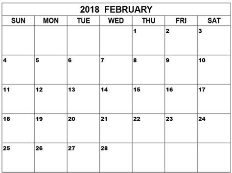 printable calendar landscape 2018 february 2018 calendar portrait landscape