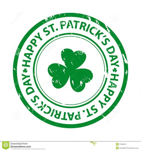 St Patricks Day Rubber St Stock Vector Image 37608619