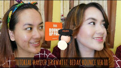 Bedak Ver 88 Bounce Review review tutorial makeup jerawat ft ver 88 bounce up pact