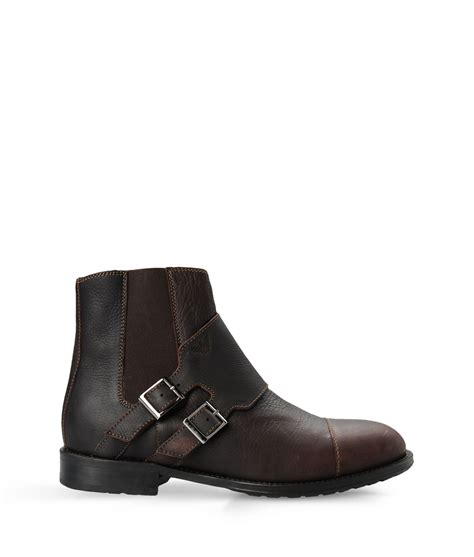 mens armani boots armani ankle boots in black for brown lyst