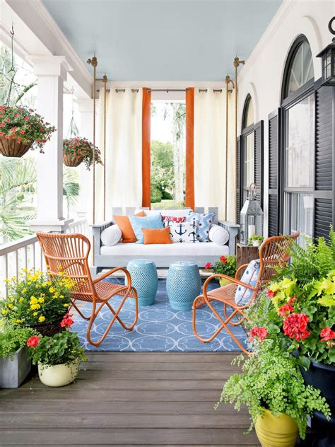 decorate front porch porch design and decorating ideas hgtv