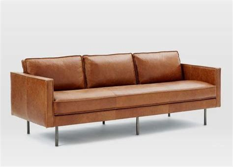 brown modern sofa best 25 modern leather sofa ideas on