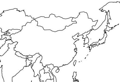 Asia Rivers Outline Map by East Asia Map