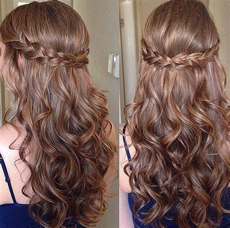formal hairstyles down with braid inspira 231 227 o penteados pinterest half updo updo and
