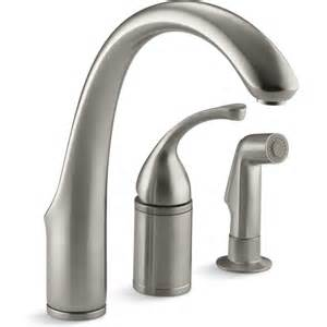 kitchen faucet plumbing kohler faucet k 10430 bn forte vibrant brushed nickel one handle with sidespray kitchen faucets