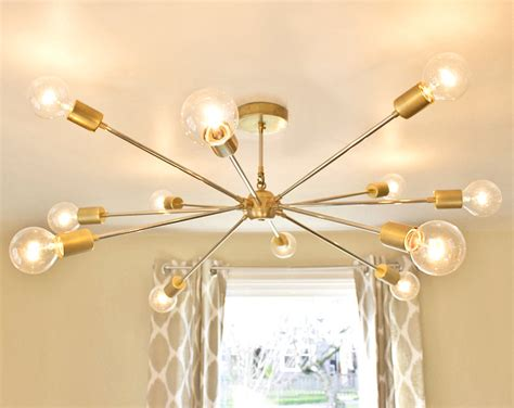 diy sputnik chandelier free shipping the shepard modern brass sputnik chandelier