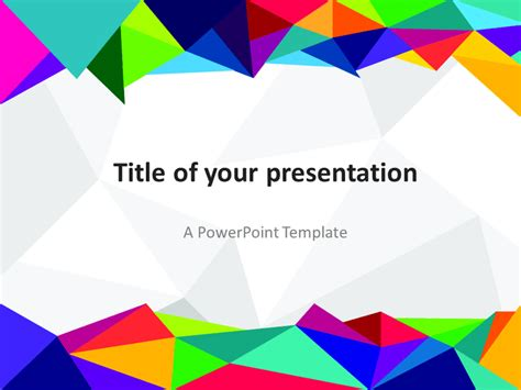 free abstract powerpoint templates free powerpoint template with colors of the 80s abstract