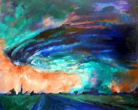color painting tornado painting myfolio