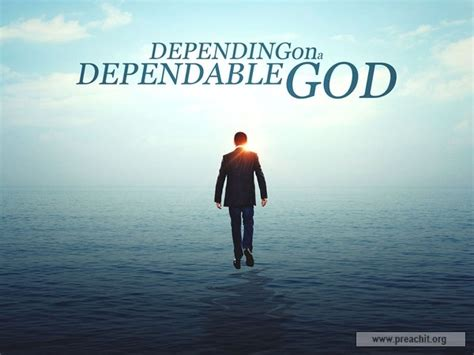 Sermon by Title: Depending On A Dependable God - Lesson 1 Ephesians 1:11