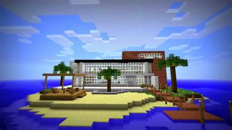 minecraft island house modern island house in minecraft youtube