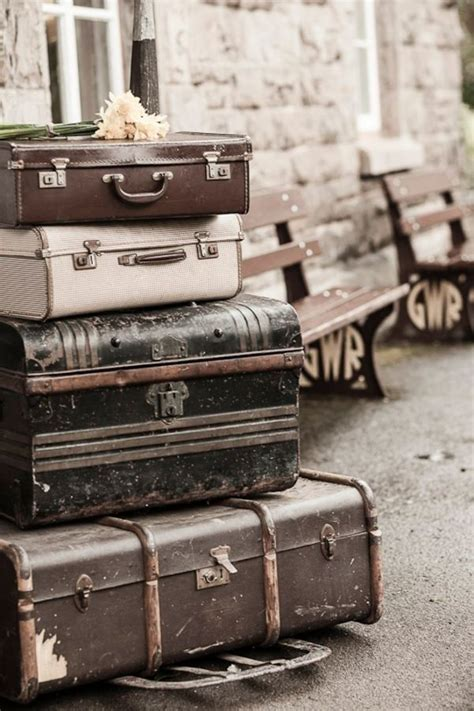 beautiful travel trunks vintage suitcases train station for monsieur