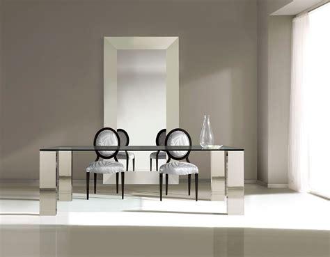 mesas de comedor de cristal de diseno mesa comedor acero