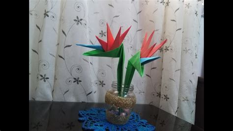 Origami Bird Of Paradise Flower - diy paper crafts origami how to make origami bird of