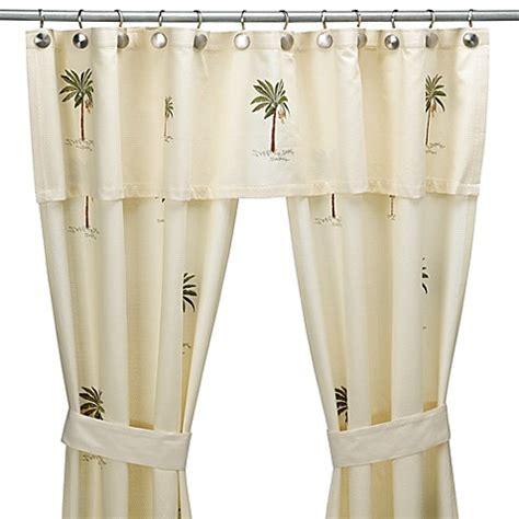swag shower curtain sets buy croscill 174 port of call double swag shower curtain set