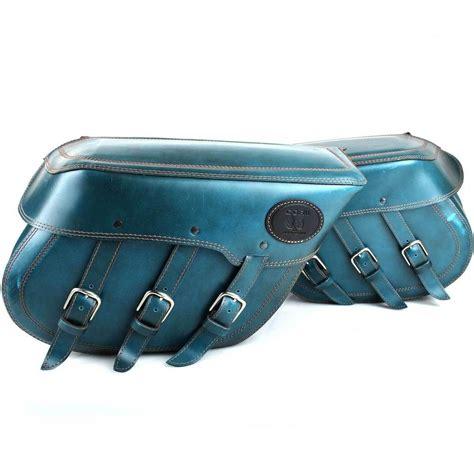 Ebay Motorrad Gebraucht by Satteltaschen Mit Gep 228 Ckrolle Blaues Leder Passend Chopper