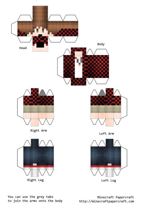 Minecraft Papercraft Boy - papercraft bajancanadian science teaching