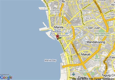 camayan resort map from manila map of manila pavilion hotel manila