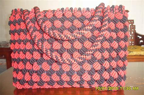 cara membuat tas tali kur model sisik tas kerajinan talikur arek semanding