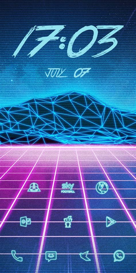outrun theme  audio visualizer  picture